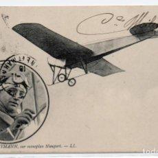 Postales: POSTAL DE AVIONES MUY ANTIGUOS, ENTRE 1909 Y 1914 LOS PRIMEROS AEROPLANOS. Lote 204377942