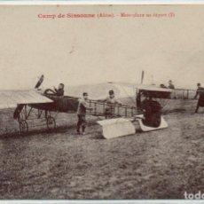 Postales: POSTAL DE AVIONES MUY ANTIGUOS, ENTRE 1909 Y 1914 LOS PRIMEROS AEROPLANOS. Lote 204378205