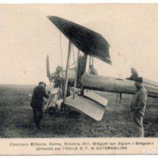 Postales: POSTAL DE AVIONES MUY ANTIGUOS, ENTRE 1909 Y 1914 LOS PRIMEROS AEROPLANOS. Lote 204378380