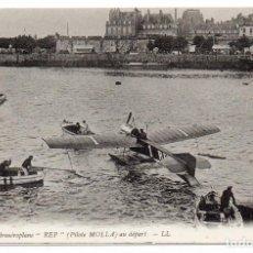 Postales: POSTAL DE AVIONES MUY ANTIGUOS, ENTRE 1909 Y 1914 LOS PRIMEROS AEROPLANOS. Lote 204404155