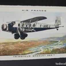 Postales: TARJETA POSTAL. AIR FRANCE. TRIMOTEUR BREGUET 393 T.. Lote 205100141