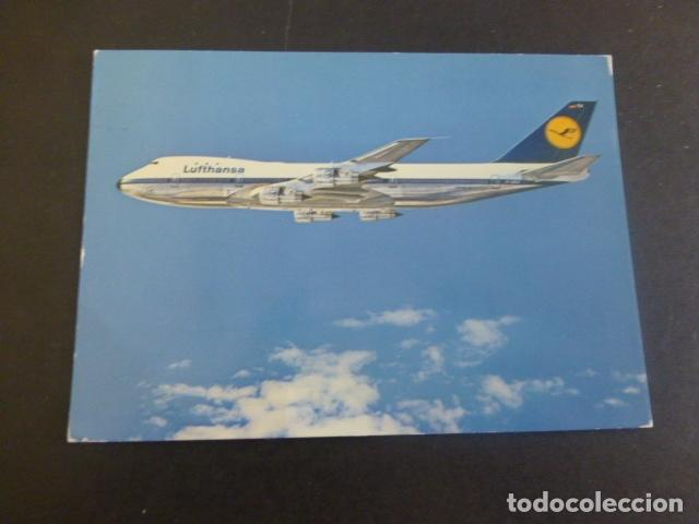 LUFTHANSA AVION BOEING JET 747 (Postales - Postales Temáticas - Aeroplanos, Zeppelines y Globos)
