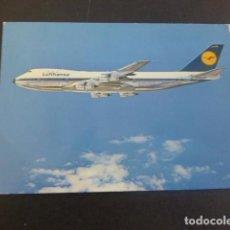 Postales: LUFTHANSA AVION BOEING JET 747. Lote 205274281