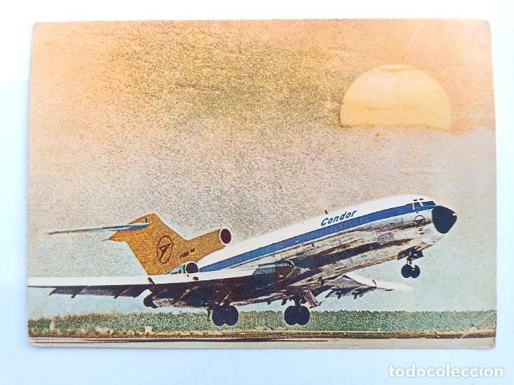 TARJETA POSTAL. CONDOR - EUROPA-JET - BOEING 727-30. POST CARD (Postales - Postales Temáticas - Aeroplanos, Zeppelines y Globos)