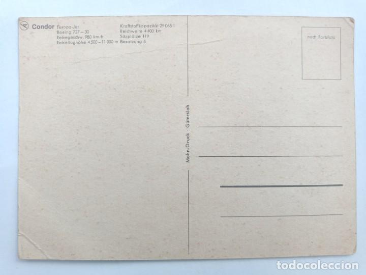 Postales: TARJETA POSTAL. CONDOR - EUROPA-JET - BOEING 727-30. POST CARD - Foto 2 - 205394613