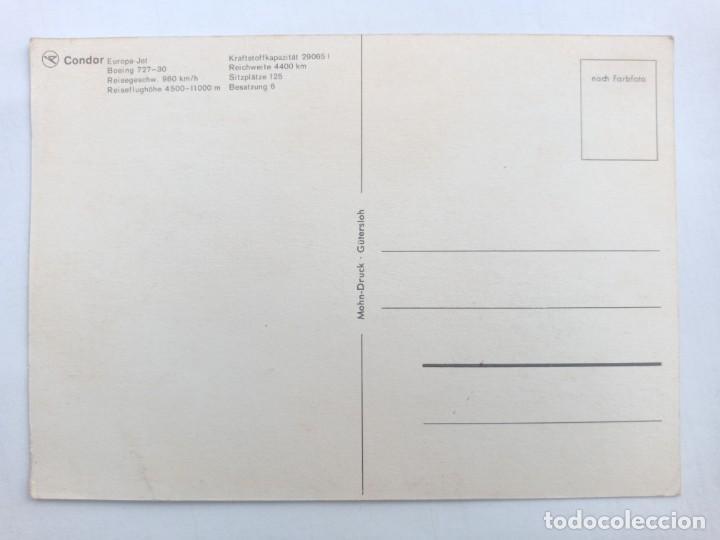 Postales: TARJETA POSTAL. CONDOR - EUROPA-JET - BOEING 727-30. POST CARD - Foto 2 - 205394763