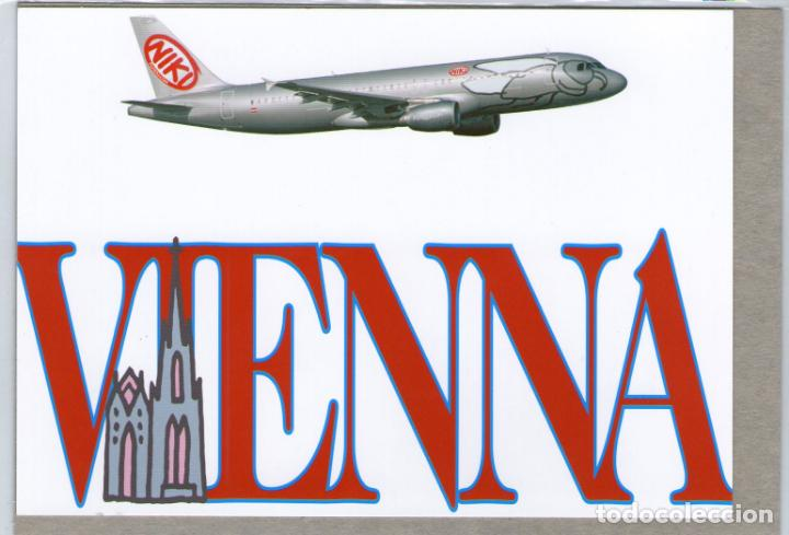 POSTAL AVION AIRBUS A320 COMPAÑIA NIKI - AVIACION - AVIONES FLYNIKI (Postales - Postales Temáticas - Aeroplanos, Zeppelines y Globos)