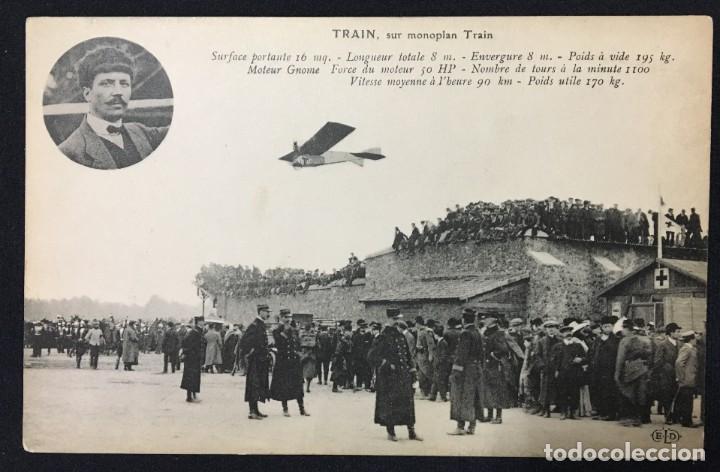 Postales: 15 Postales de Primeros Vuelos Paris-Madrid entre 1910-1911, algunas con viñeta y firma del piloto. - Foto 3 - 205733508