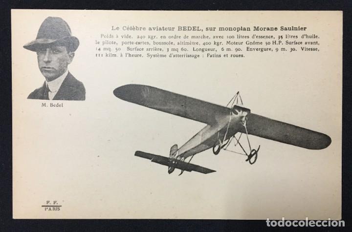 Postales: 15 Postales de Primeros Vuelos Paris-Madrid entre 1910-1911, algunas con viñeta y firma del piloto. - Foto 6 - 205733508