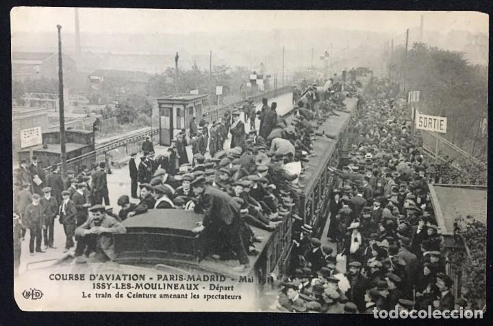 Postales: 15 Postales de Primeros Vuelos Paris-Madrid entre 1910-1911, algunas con viñeta y firma del piloto. - Foto 8 - 205733508