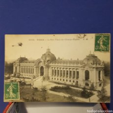 Postales: POSTAL PARIS, LE PETIT PALAIS DES CHAMPS ÉLYSEES. SOBREVUELA AVIONETA 1912. Lote 205809228