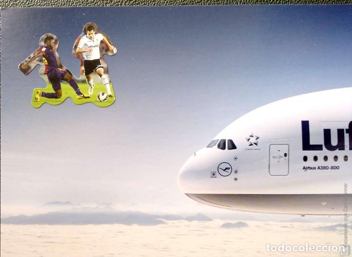 LUFTHANSA AIRBUS A380. NUEVA. COLOR (Postales - Postales Temáticas - Aeroplanos, Zeppelines y Globos)