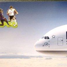 Postales: LUFTHANSA AIRBUS A380. NUEVA. COLOR. Lote 206243938