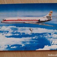 Postales: TARJETA POSTAL - IBERIA LINEAS AEREAS INTERNACIONALES DE ESPAÑA - CARAVELLE X-R - AVION. Lote 206317927