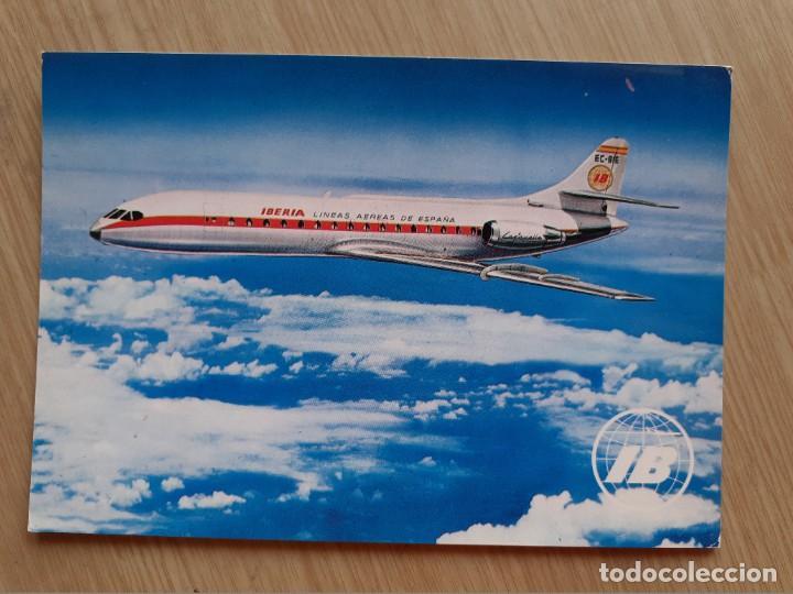 TARJETA POSTAL - IBERIA LINEAS AEREAS INTERNACIONALES DE ESPAÑA - CARAVELLE X-R - AVION (Postales - Postales Temáticas - Aeroplanos, Zeppelines y Globos)