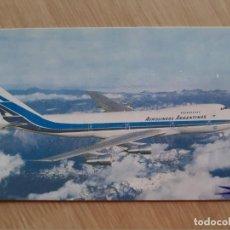 Postales: TARJETA POSTAL - AEROLÍNEAS ARGENTINAS - JUMBO 747 - AVION. Lote 206318565