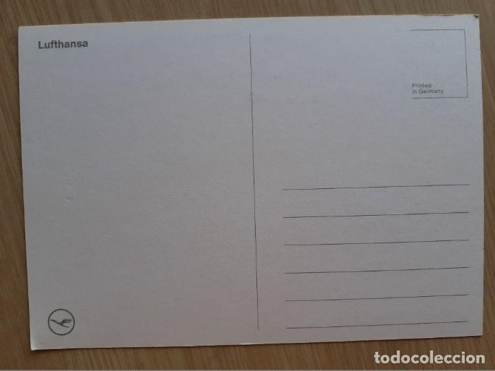 Postales: TARJETA POSTAL DE AVIONES AEROLÍNEAS - LUFTHANSA - AVION - Foto 2 - 206318835