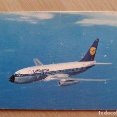 Postales: TARJETA POSTAL DE AVIONES AEROLÍNEAS - LUFTHANSA B737 - AVION. Lote 206318948