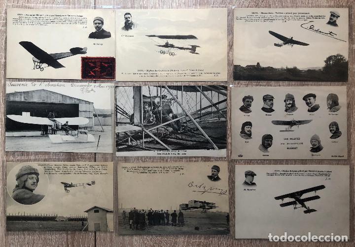 19 POSTALES ANTIGUAS TEMA AVIACIÓN (Postales - Postales Temáticas - Aeroplanos, Zeppelines y Globos)