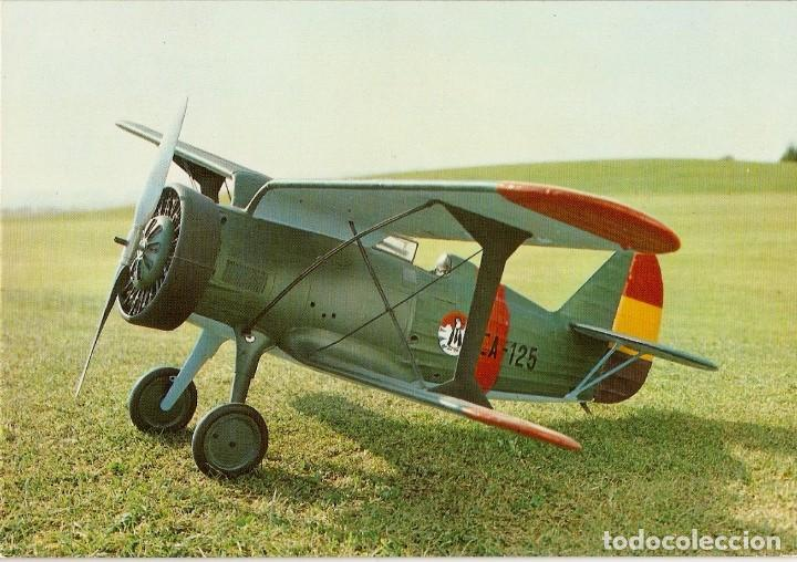 POSTAL MUSEO DEL AIRE - PLIKARPOV I-15 CHATO (Postales - Postales Temáticas - Aeroplanos, Zeppelines y Globos)