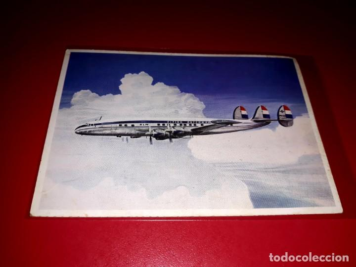 LOCKHEED SUPER CONSTELLATION L-1049 G KLM SIN CIRCULAR (Postales - Postales Temáticas - Aeroplanos, Zeppelines y Globos)
