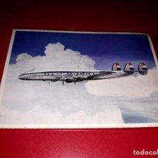 Postales: LOCKHEED SUPER CONSTELLATION L-1049 G KLM SIN CIRCULAR. Lote 206565005