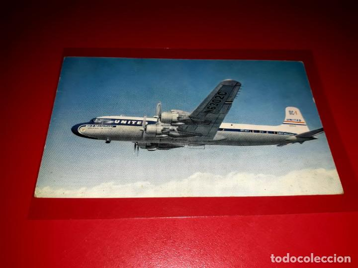 Postales: United Air Lines DC-7 - Foto 1 - 206565312