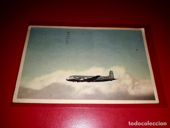 DOUGLAS DC-6 ESCRITA Y SELLADA (Postales - Postales Temáticas - Aeroplanos, Zeppelines y Globos)