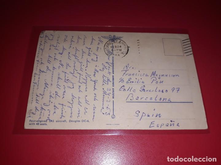 Postales: Douglas DC-6 Escrita y sellada - Foto 2 - 206565608