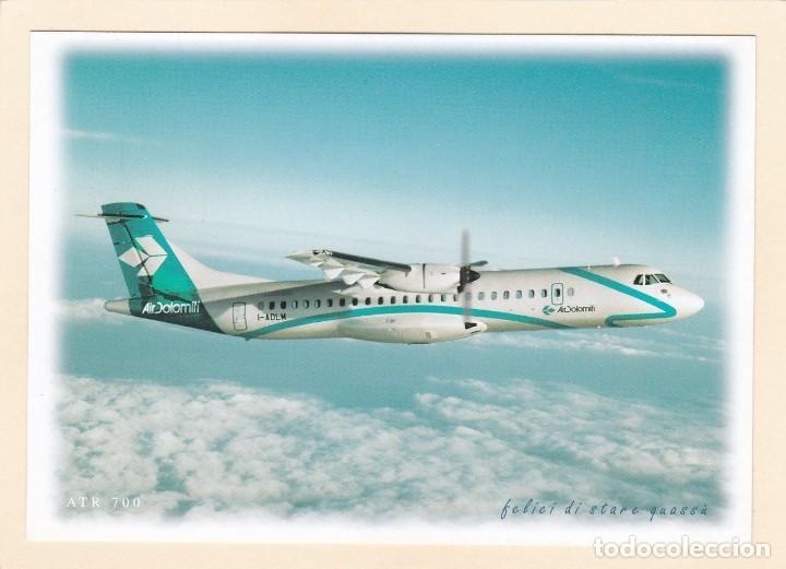 POSTAL AIR DOLOMITI. ITALIA. AVION ATR 700. AEROLINEAS. LINEAS AEREAS (Postales - Postales Temáticas - Aeroplanos, Zeppelines y Globos)