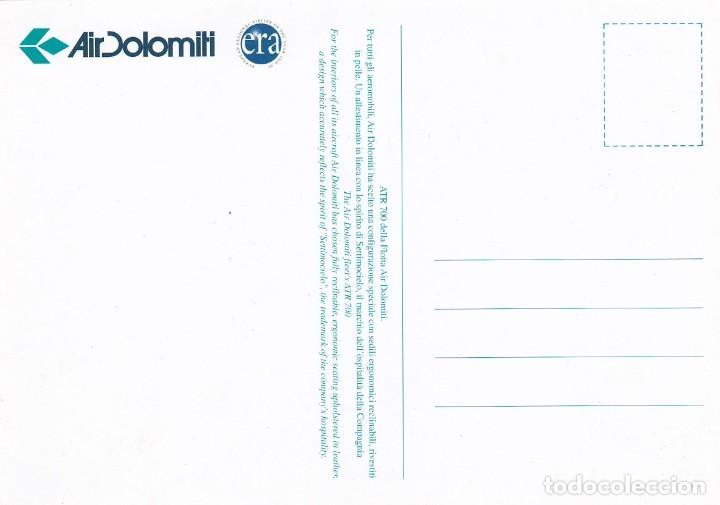 Postales: POSTAL AIR DOLOMITI. ITALIA. AVION ATR 700. AEROLINEAS. LINEAS AEREAS - Foto 2 - 206835526