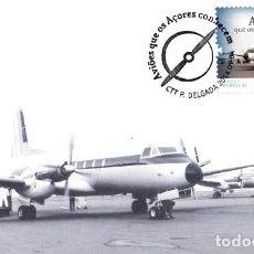 Postales: PORTUGAL & POSTALE MAXIMO, AVIONES QUE AZORES CONOCEN, HAWKER SIDDELEY HS-748 AVRO 2014 (6665). Lote 206837753