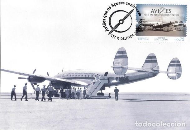 PORTUGAL & POSTALE MAXIMO, AVIONES QUE AZORES CONOCEN, HAWKER SIDDELEY HS-748 AVRO 2014 (6665) (Postales - Postales Temáticas - Aeroplanos, Zeppelines y Globos)