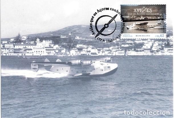 PORTUGAL & POSTALE MAXIMO, AVIONES QUE AZORES CONOCEN, BOEING 314 CLIPPER 2014 (5778) (Postales - Postales Temáticas - Aeroplanos, Zeppelines y Globos)