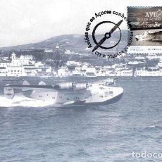 Postales: PORTUGAL & POSTALE MAXIMO, AVIONES QUE AZORES CONOCEN, BOEING 314 CLIPPER 2014 (5778). Lote 206838160
