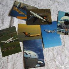 Postales: LOTE CONJUNTO POSTALES LUFTHANSA ANTIGUAS VER FOTOS. Lote 208019325