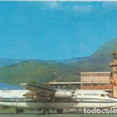 Postales: POSTAL AVIACION TRANSPORTES AEREOS DEL CESAR TAC AIRLINE MEDELLIN AIRPORT COLOMBIA ED. MOVIFOTO. Lote 210172690