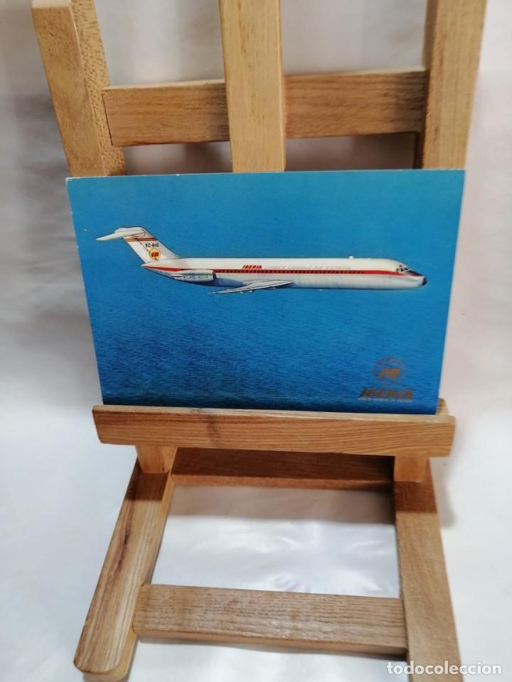 POSTAL IBERIA JET DOUGLAS DC - 9 SIN CIRCULAR (Postales - Postales Temáticas - Aeroplanos, Zeppelines y Globos)