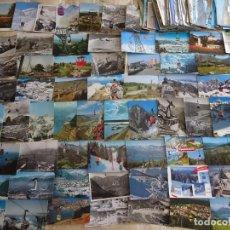 Postales: LOTE COLECCIÓN DE 262 POSTALES ANTIGUAS DE TELECABINAS TELESILLAS AEREOS. ESTACIONES. 1,12KG. Lote 210224103