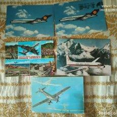 Postales: 5 POSTALES AVIONES USADAS. Lote 212110723