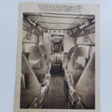 Postales: POSTAL DE TRANSPORTES AÉREOS BÉLGICA BELGIUM. INTERIOR TRIMOTOR SABENA. Lote 213056492