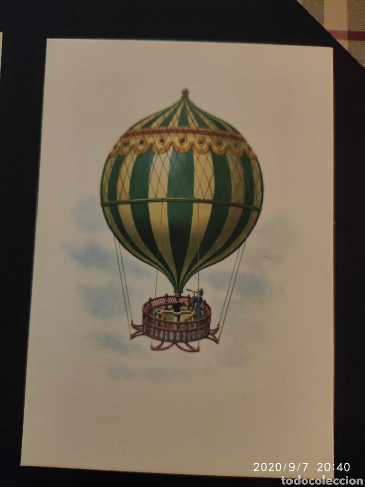 """POSTAL MONGOLFIERA DI FEDELE CARMINA AÑO 1788 """" (Postales - Postales Temáticas - Aeroplanos, Zeppelines y Globos)"""