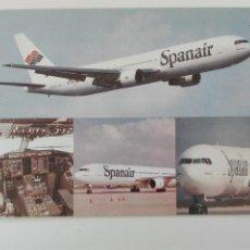 Cartes Postales: POSTAL1490 NUEVA - SPANAIR - BOEING 767 - AVIACION. Lote 217153190