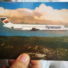 Postales: POSTAL SPANAIR WHERE THE SKY OS NO LIMITA MD-83 S/C. Lote 218212915