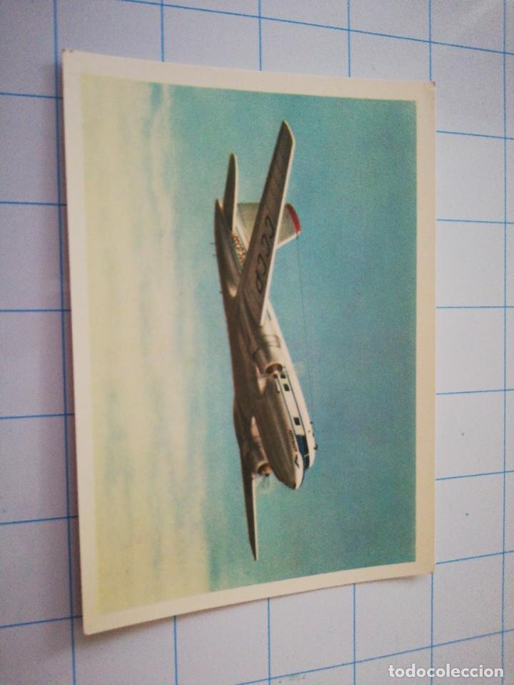 POSTAL AVIÓN RUSO IL-14 (Postales - Postales Temáticas - Aeroplanos, Zeppelines y Globos)