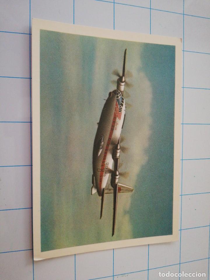 POSTAL AVIÓN RUSO AN-10 (Postales - Postales Temáticas - Aeroplanos, Zeppelines y Globos)