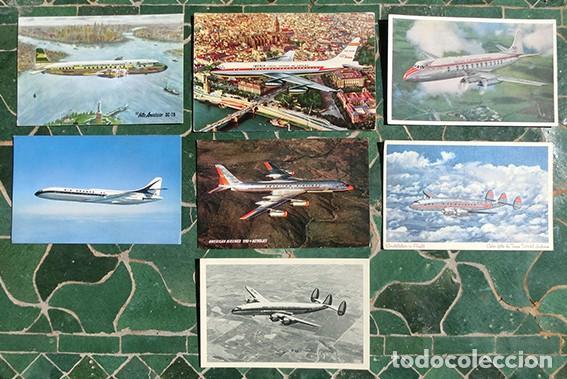 POSTALES AÉREAS - IBERIA - TWA - AMERCICA AILINES - BRITISH AIRWAYS - AIR FRANCE - PANAGRA - (Postales - Postales Temáticas - Aeroplanos, Zeppelines y Globos)