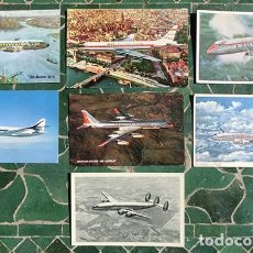 Postales: POSTALES AÉREAS - IBERIA - TWA - AMERCICA AILINES - BRITISH AIRWAYS - AIR FRANCE - PANAGRA -. Lote 220084276