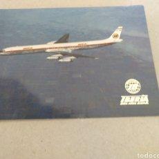 Postales: POSTAL DE IBERIA. JET DOUGLAS SÚPER DC-8/63. SIN CIRCULAR. Lote 220847345