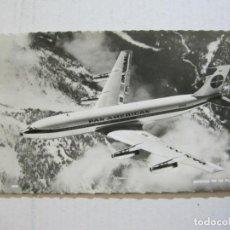 Postales: AVION-BOEING 707 IN FLIGHT-PAN AMERICAN-CIRCULADA-POSTAL ANTIGUA-(74.589). Lote 220866635